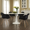 Pyramid Dining Armchair - Black (Set of 4) - EEI-1257-BLK