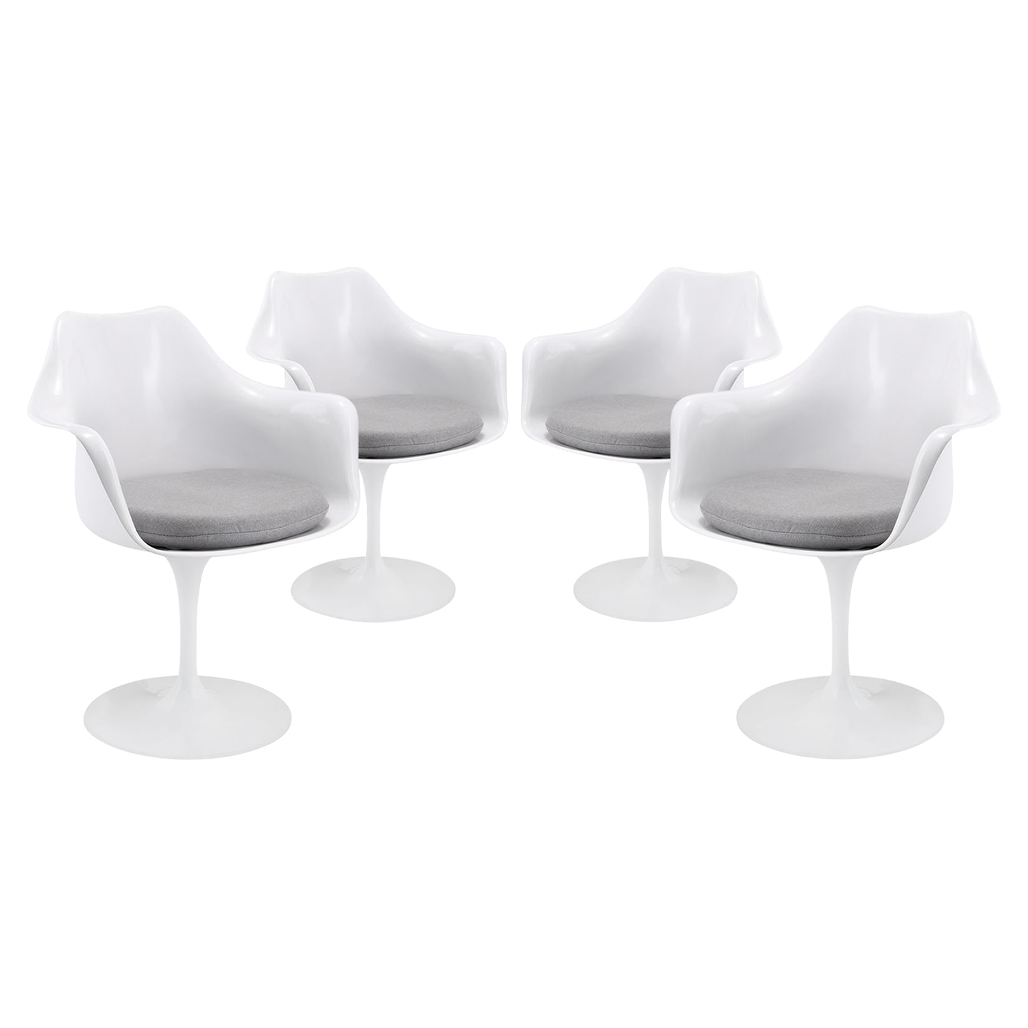 Lippa Dining Armchair - Pedestal Base, Swivel (Set of 4) - EEI-1260