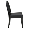 Button Dining Side Chair - Tufted, Black (Set of 2) - EEI-1279-BLK