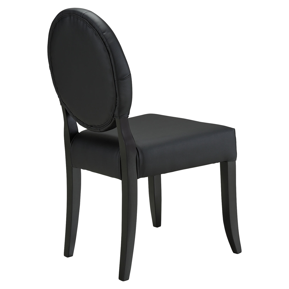 button dining side chair black tufted set of 4 dcg stores. Black Bedroom Furniture Sets. Home Design Ideas