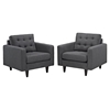 Empress Upholstered Armchair - Tufted (Set of 2) - EEI-1283