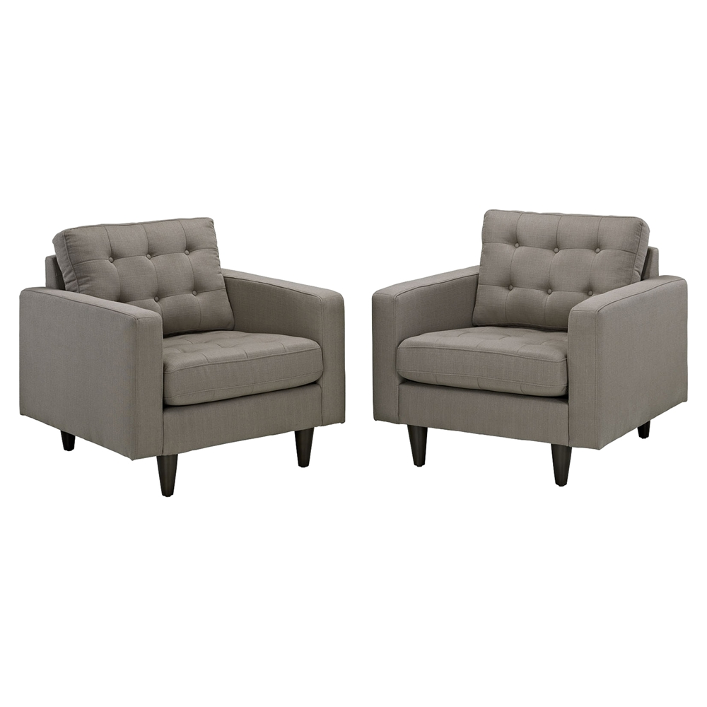 Empress Upholstered Armchair Tufted Set Of 2 Dcg Stores