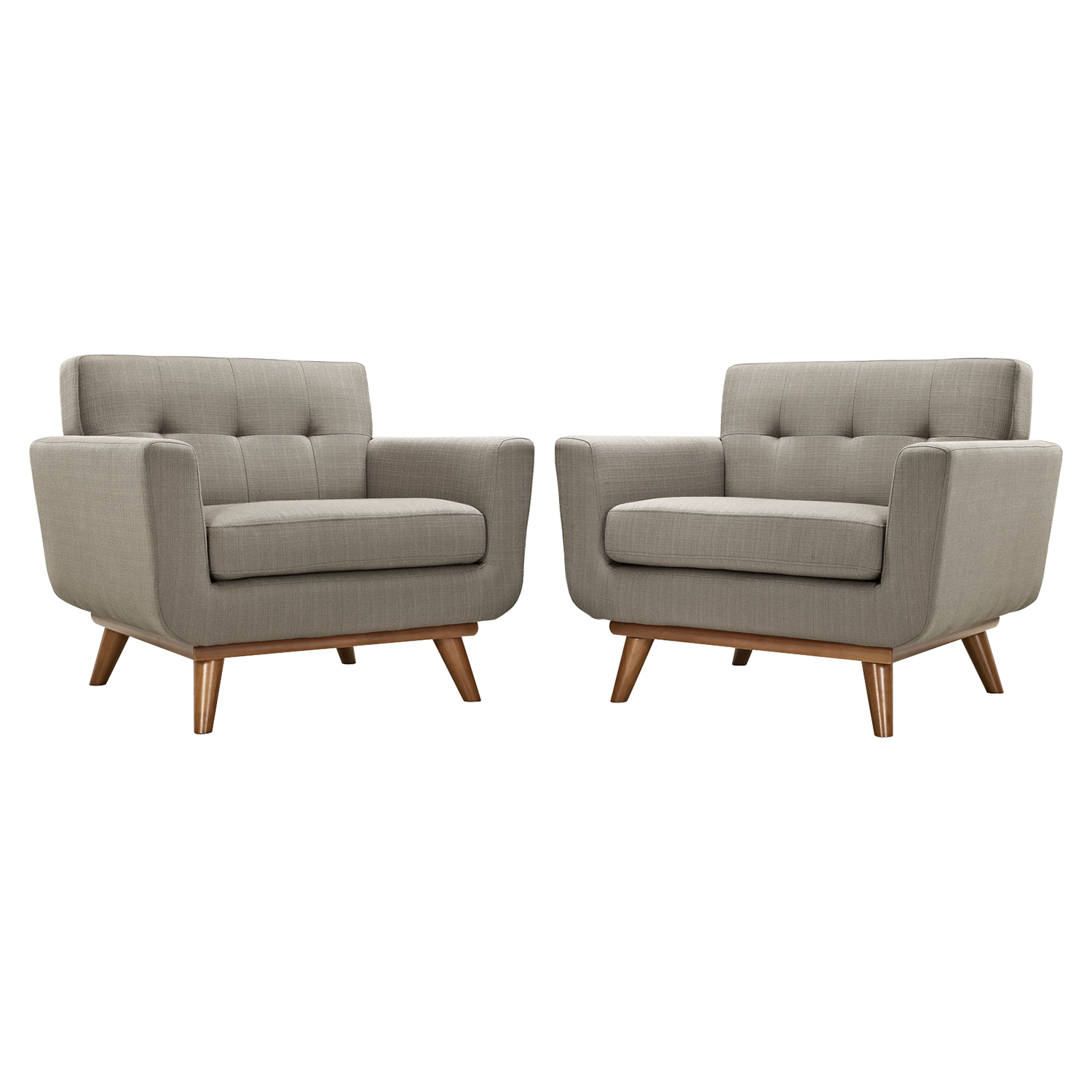 Engage Wood Armchair - Tufted (Set of 2) - EEI-1284
