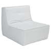 Align Bonded Leather Chair and Ottoman Set - White - EEI-1287-WHI