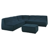 Align 4 Pieces Upholstered Sectional Sofa Set - Tufted, Azure - EEI-1288-AZU