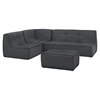 Align 4 Pieces Upholstered Sectional Sofa Set - Charcoal - EEI-1289-CHA