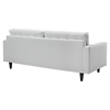 Empress 2 Pieces Armchair and Sofa Set - White - EEI-1311-WHI