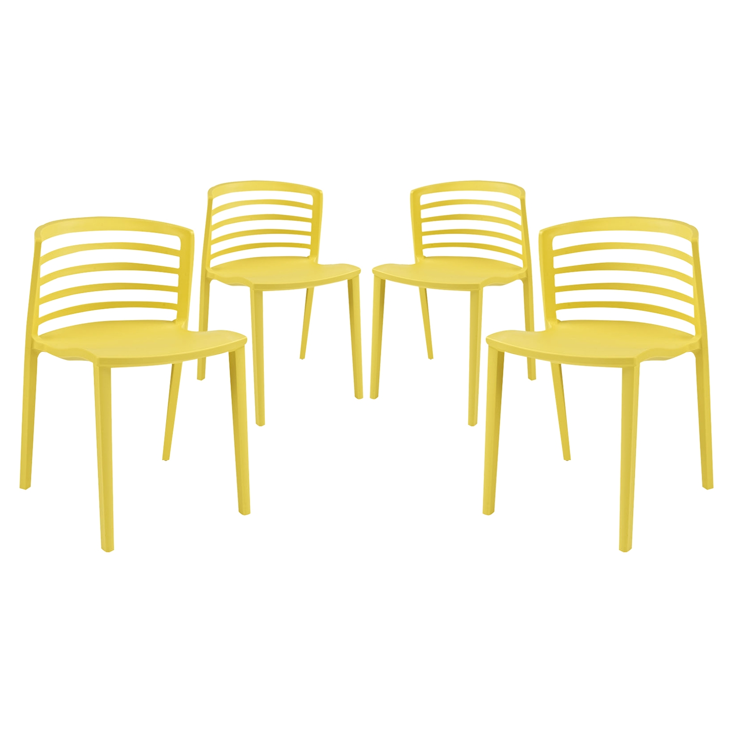 Curvy Backrest Dining Chair (Set of 4) - EEI-1315