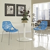 Stencil Dining Side Chair - Blue, Stackable (Set of 2) - EEI-1317-BLU
