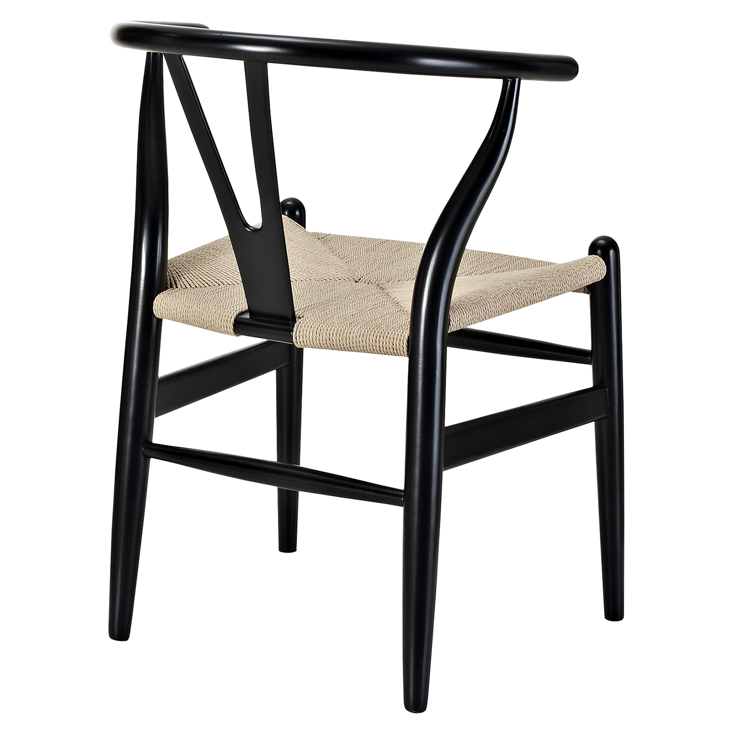 Amish Dining Armchair - Wood Frame, Black (Set of 4) - EEI-1320-BLK