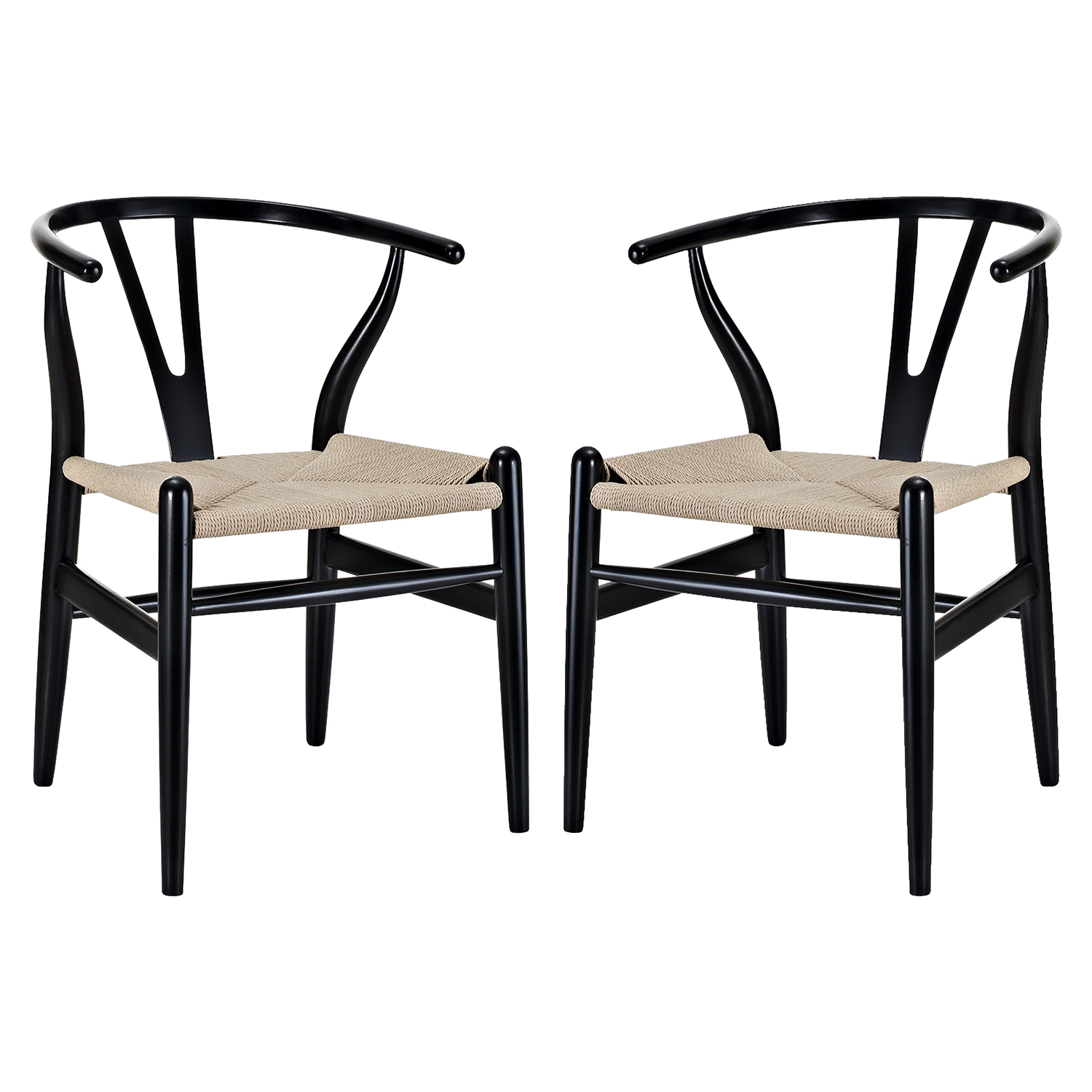 Amish Dining Armchair - Black (Set of 2) - EEI-1319-BLK