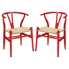 Amish Dining Armchair - Red (Set of 2) - EEI-1319-RED