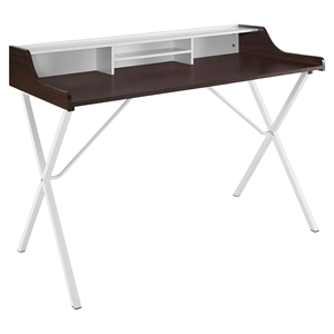 Bin Rectangular Office Desk - Cherry
