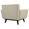 Engage Leather Armchair - Tufted, Beige (Set of 2) - EEI-1665-BEI-SET