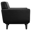 Engage 3 Pieces Leather Sofa Set - Tufted, Black - EEI-1762-BLK-SET