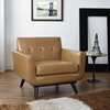 Engage Bonded Leather Armchair - Tufted, Tan - EEI-1336-TAN