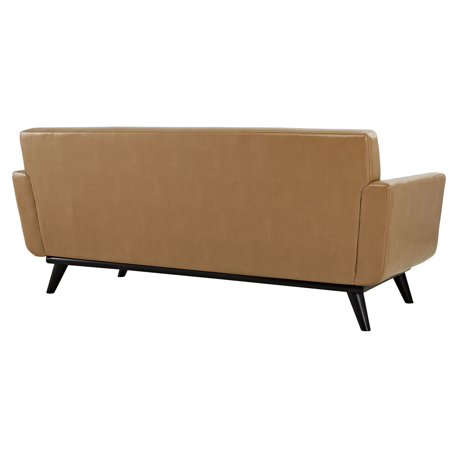 Engage Bonded Leather Loveseat Tufted Tan Dcg Stores