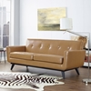 Engage Bonded Leather Loveseat - Tufted, Tan - EEI-1337-TAN