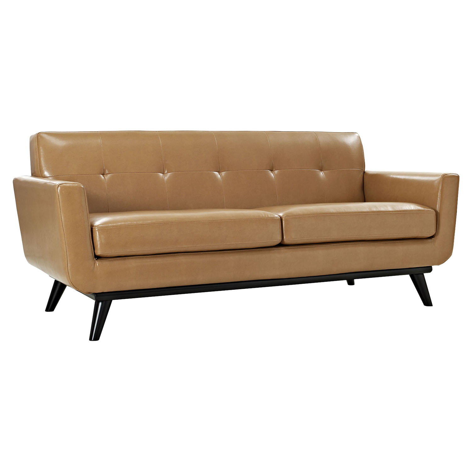 Engage 2 Pieces Leather Sofa Set - Flared Legs, Tan - EEI-1767-TAN-SET