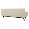 Engage 2 Pieces Tufted Sofa Set - Leather, Beige - EEI-1766-BEI-SET