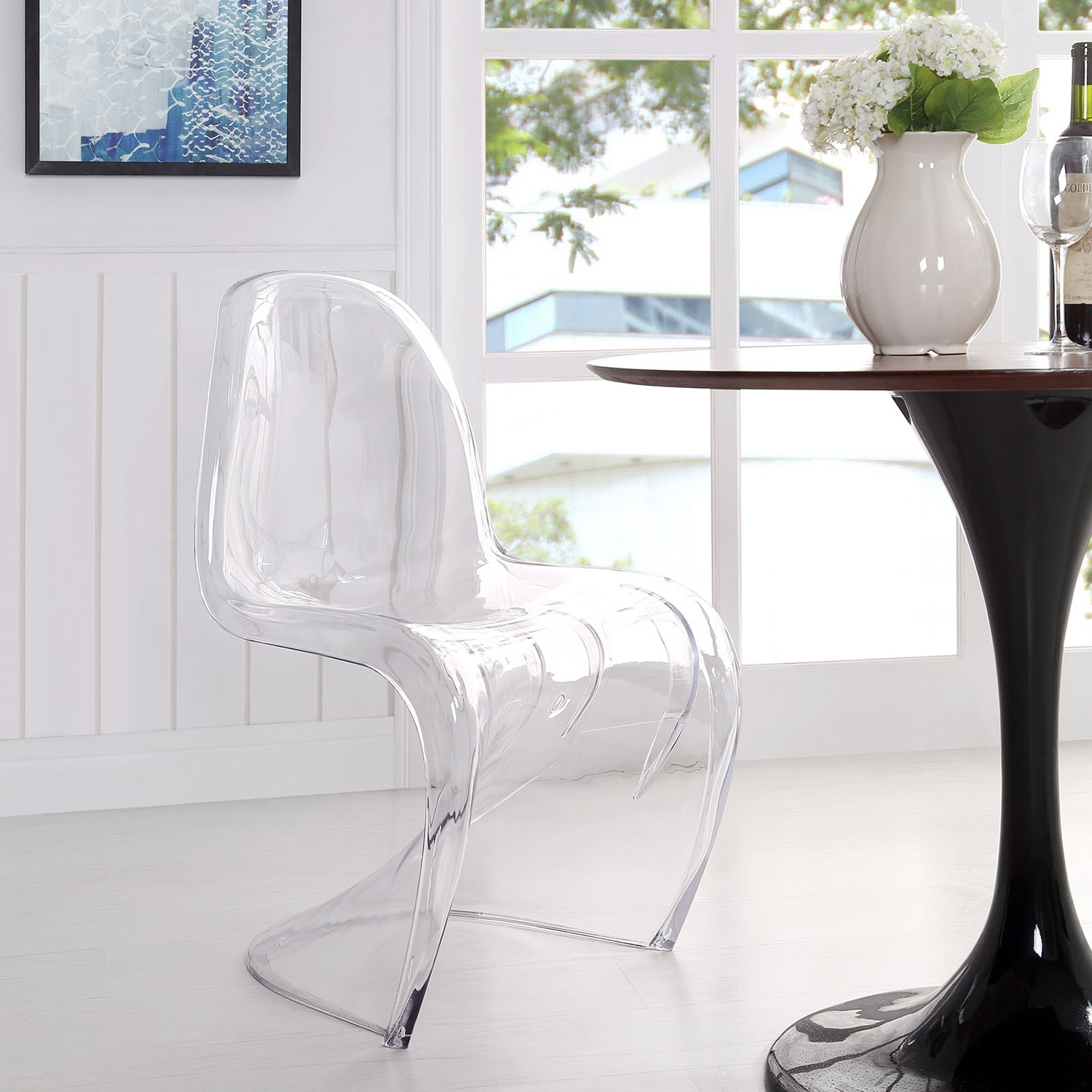 Slither Acrylic Dining Side Chair - Clear - EEI-1339-CLR