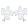 Slither Dining Side Chair - Stackable, Clear (Set of 4) - EEI-1341-CLR