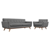 Engage 2 Pieces Armchair and Sofa - Tufted - EEI-1344