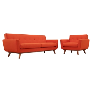Engage 2 Pieces Armchair and Sofa - Tufted