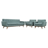 Engage 3 Pieces Armchair and Sofa - Tufted - EEI-1345