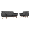 Engage 2 Pieces Armchair and Loveseat - Tufted - EEI-1346