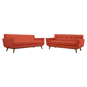 Engage 2 Pieces Loveseat and Sofa - Tufted