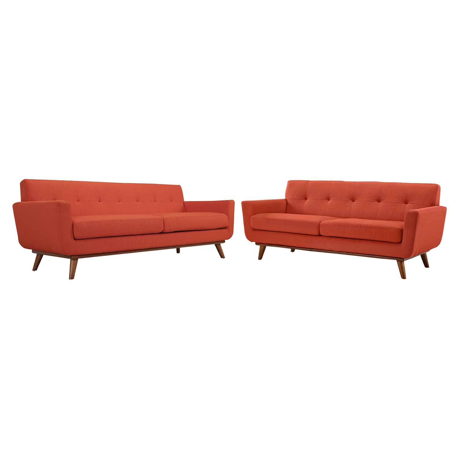 Engage 2 Pieces Loveseat and Sofa - Tufted - EEI-1348