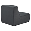 Align Upholstered Armless Chair - Charcoal - EEI-1354-CHA