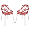 Connections Aluminum Dining Chair - Red (Set of 2) - EEI-1358-RED