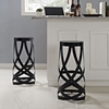 Ribbon Bar Stool - Backless, Black (Set of 2) - EEI-1360-BLK