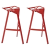 Launch Stacking Bar Stool - Backless, Red (Set of 2) - EEI-1362-RED
