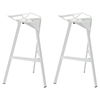 Launch Stacking Bar Stool - Backless, White (Set of 2) - EEI-1362-WHI