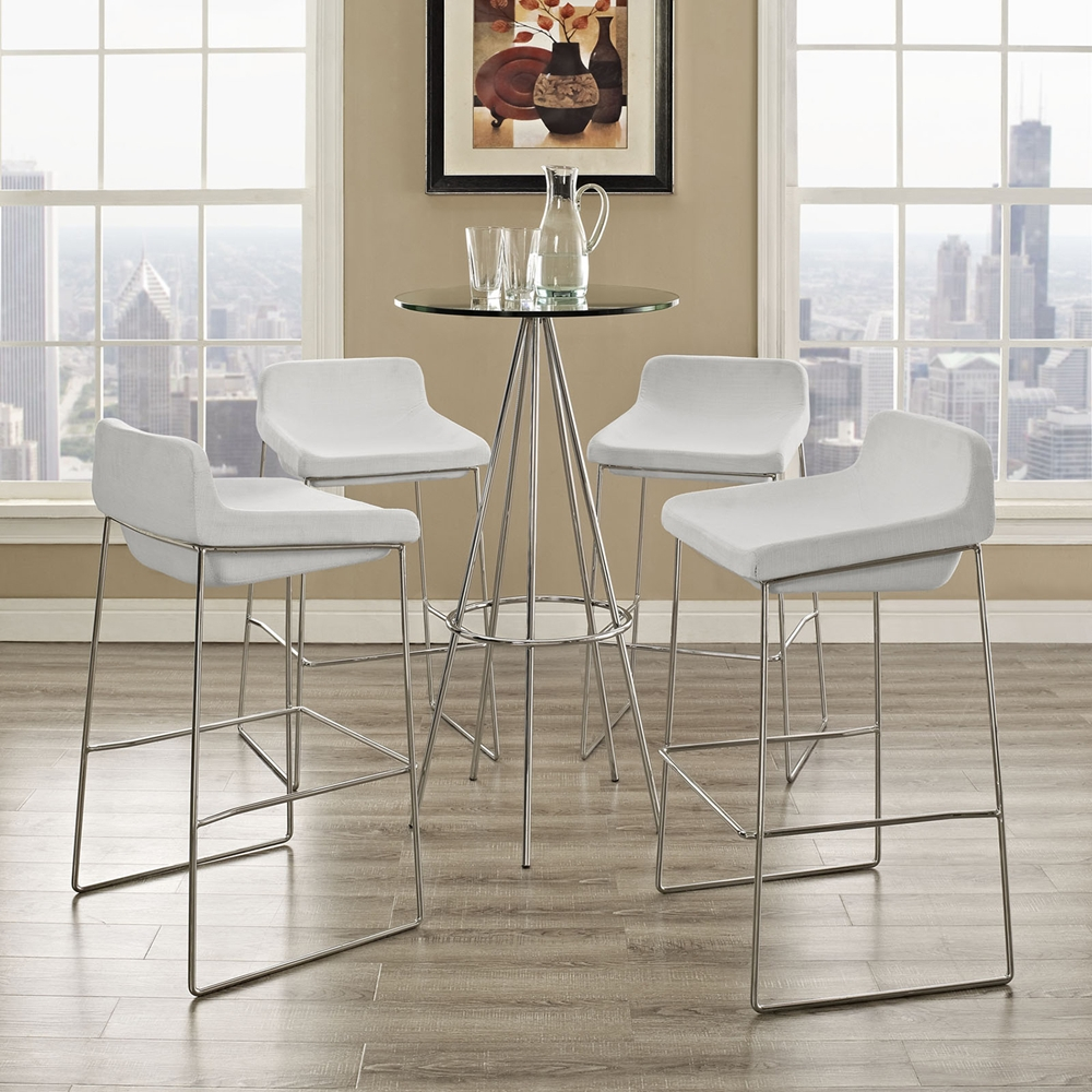 Garner Upholstery Bar Stool White Set of 4 DCG Stores : eei 1365 whi 1 from www.dcgstores.com size 1000 x 1000 jpeg 573kB