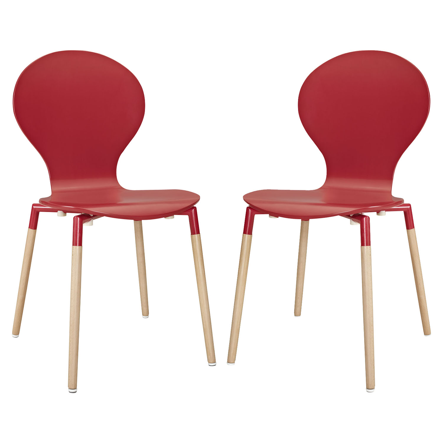 Path Dining Chair - Red (Set of 2) - EEI-1368-RED