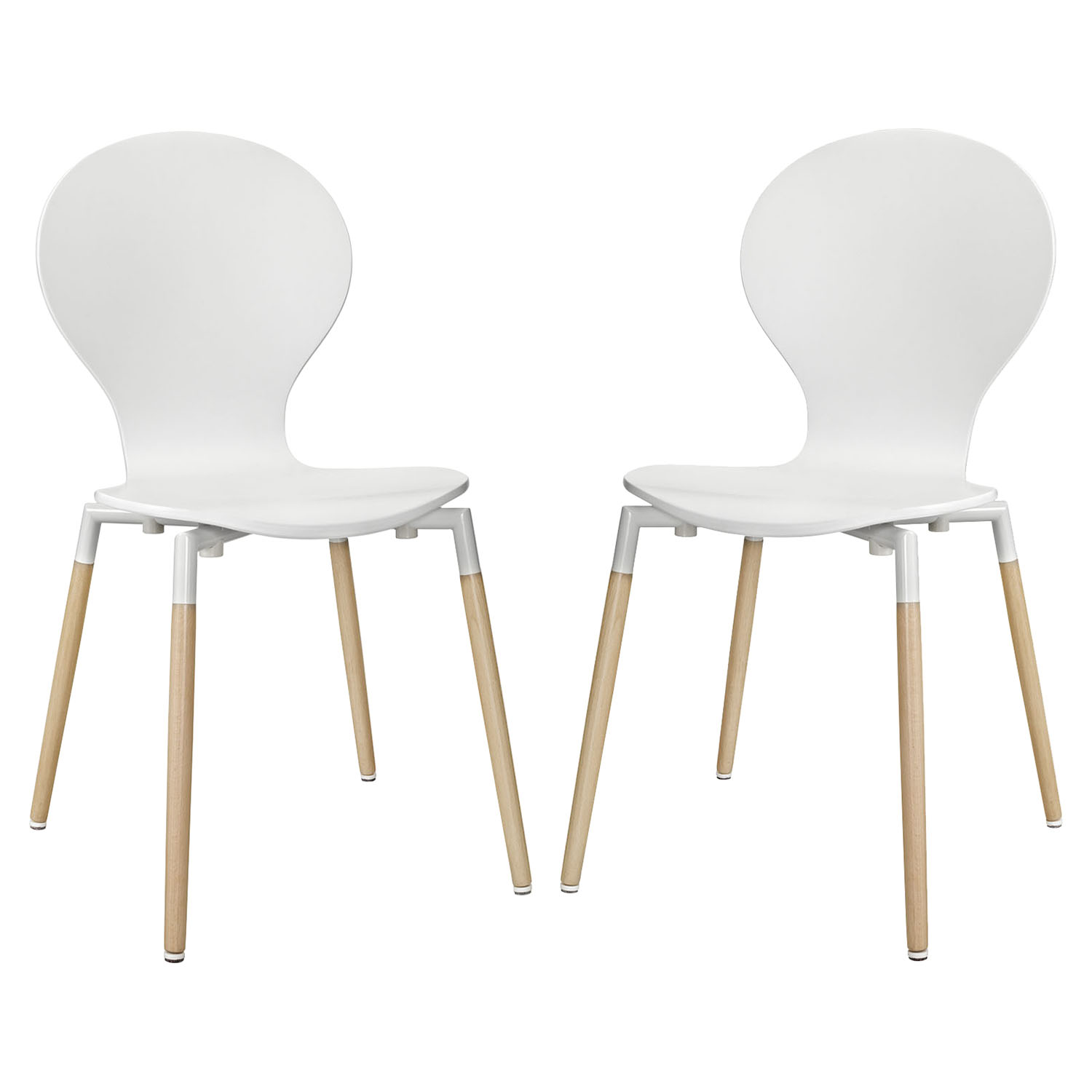 Path Dining Chair - White (Set of 2) - EEI-1368-WHI