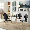 Path Dining Chair - Wood Legs, Black (Set of 4) - EEI-1369-BLK
