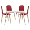 Stack 5 Pieces Dining Set - Red - EEI-1375-RED