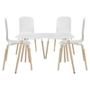 Stack 5 Pieces Dining Set - White - EEI-1375-WHI