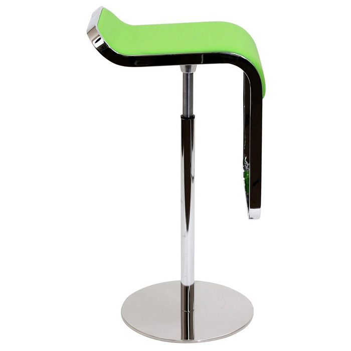 Lem Piston Style Adjustable Height Leather Bar Stool Dcg