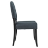 Button Dining Side Chair - Tufted, Gray - EEI-1381-GRY