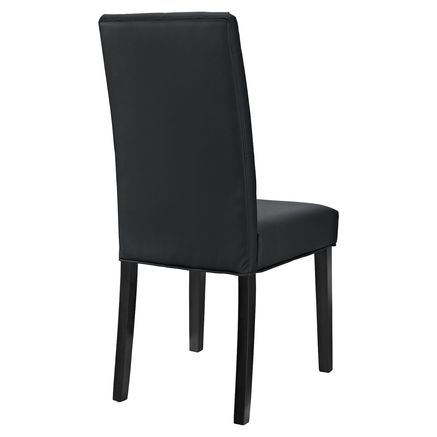 Confer Leatherette Side Chair - Button Tufted, Black - EEI-1382-BLK