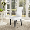 Confer Leatherette Side Chair - Button Tufted, White - EEI-1382-WHI