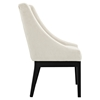 Tide Upholstery Side Chair - Wood Legs, Beige - EEI-1385-BEI