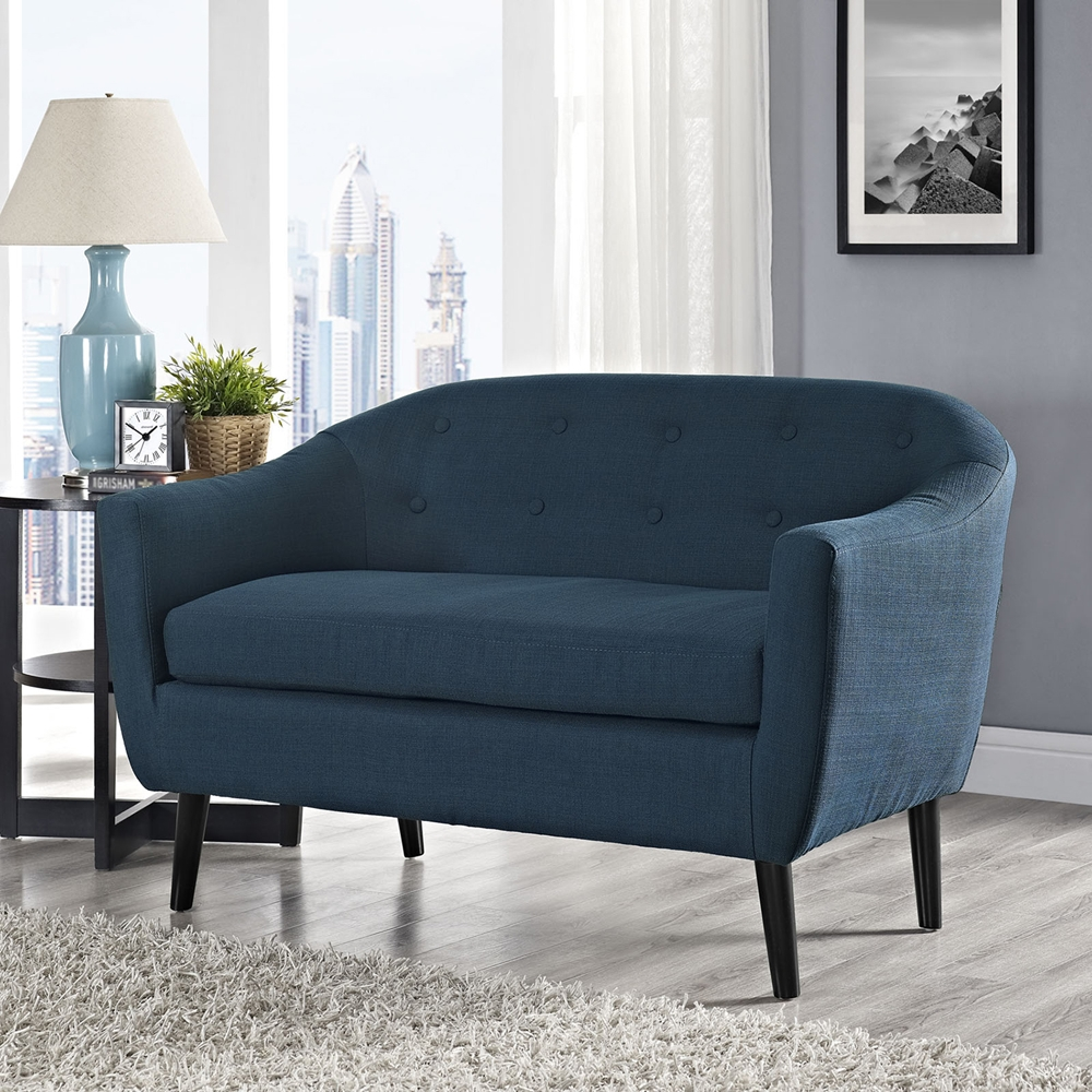 Wit Upholstery Loveseat Button Tufted Dcg Stores