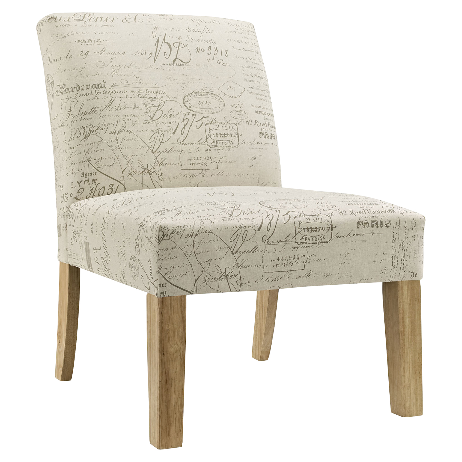 Auteur Fabric Side Chair - White - EEI-1400-WHI